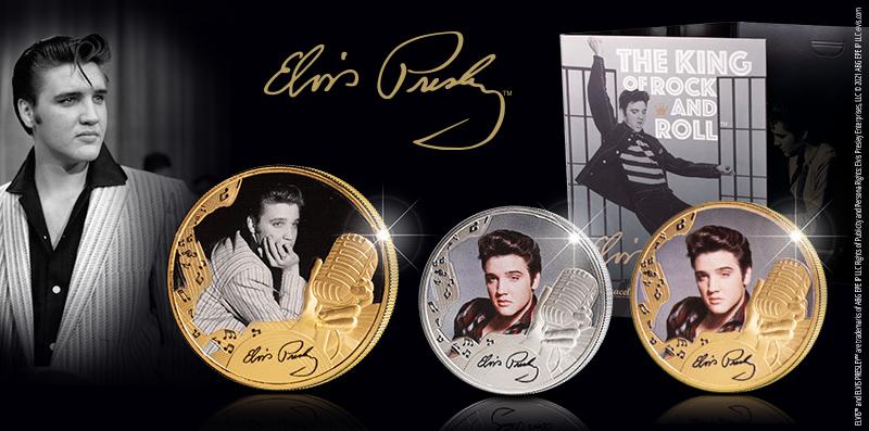 Viralliset Elvis Presley™ -keräilyrahat saatavilla Suomessa vain kauttamme