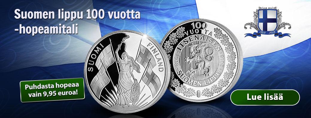 Suomen lippu 100 vuotta -hopeamitali