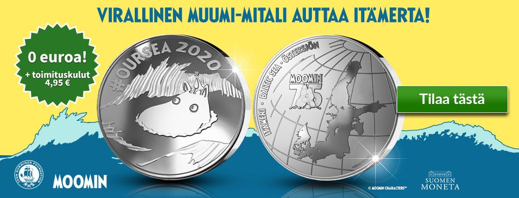 Virallinen Muumi-mitali auttaa Itämerta