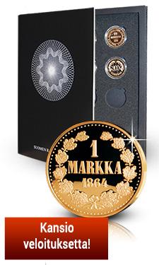 Suomen rahahistoria -kokoelman keräilykansio