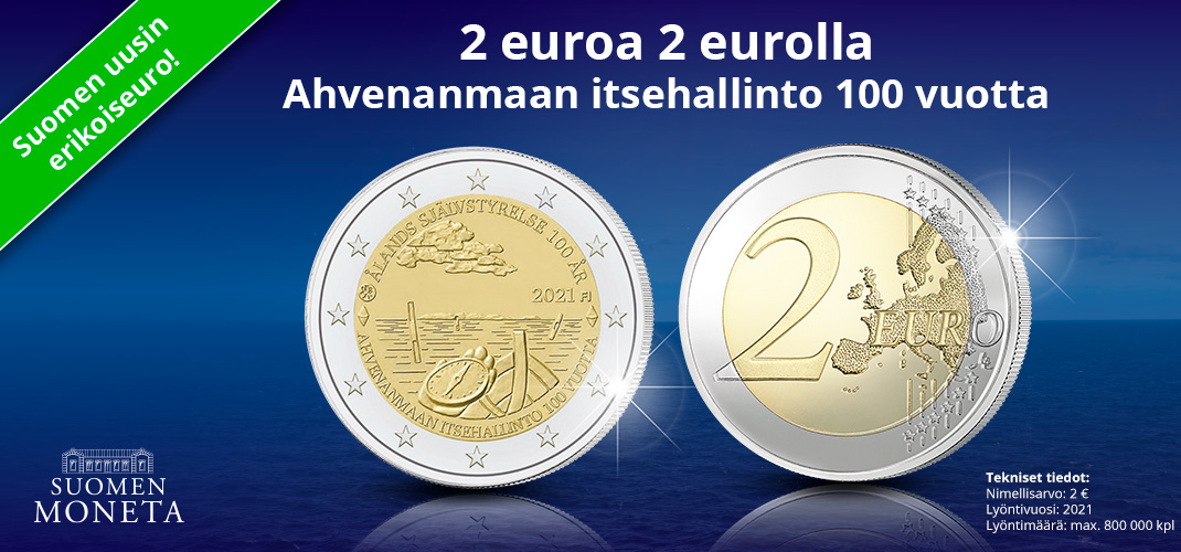 Tilaa nyt uusi erikoiseuro 2 euron nimellisarvolla (+ toimituskulut)