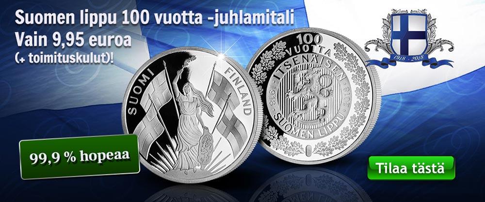 Suomen lipun juhlavuotta kunnioittava hopeamitali