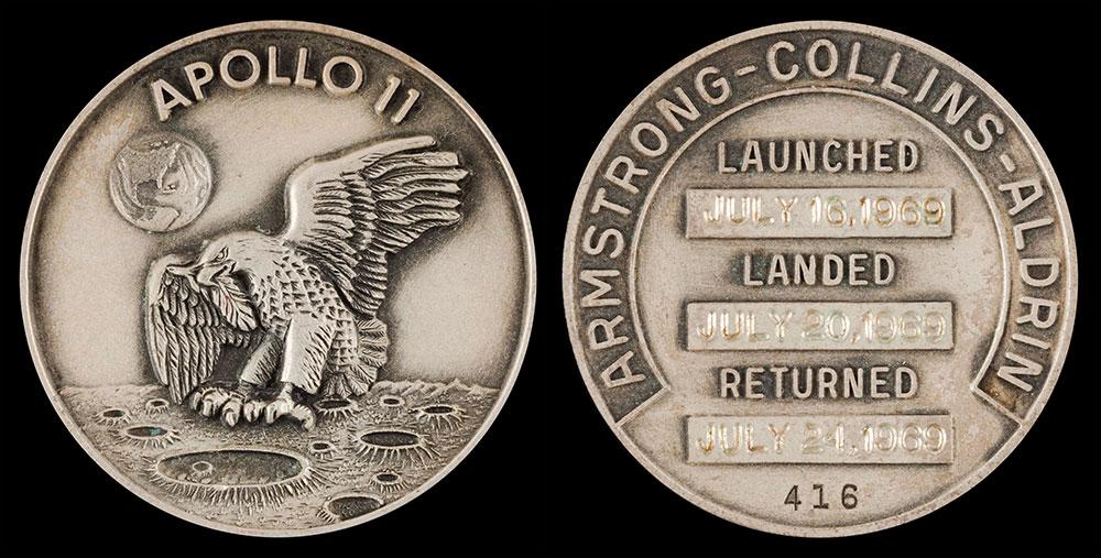 Alkuperäinen Apollo 11 Robbins-mitali
