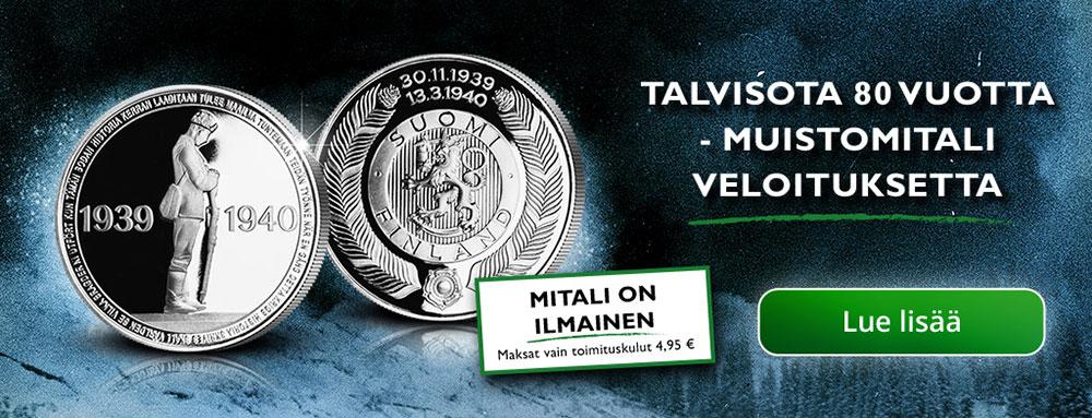 Tilaa Talvisota 80 vuotta -muistomitali