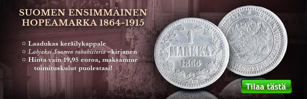 Tilaa nyt aito hopeamarkka vain 19,95 eurolla!