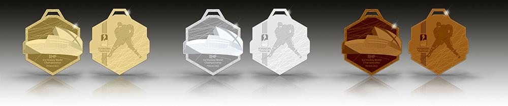 2022 Jääkiekon MM-kisojen palkintomitalit