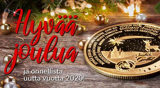 Hyvää joulua toivottaa koko Suomen Monetan väki!