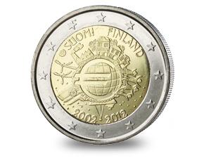 Eurosetelit ja -kolikot 10 vuotta (2012)