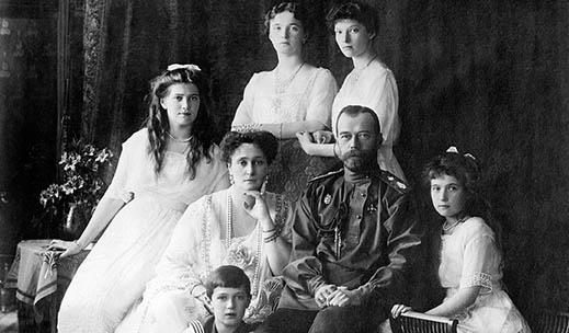 Keisariperheen yhteiskuva vuodelta 1913