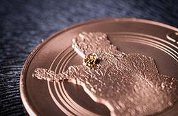 Tunturikultaa Lemmenjoelta  –Lapin kultaryntäys 150 vuotta -mitali