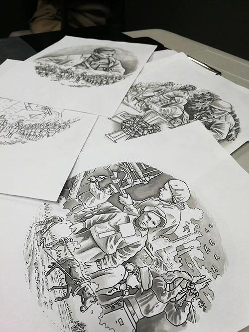 Tuomas Koivurinteen kuva-aihesuunnitelmia