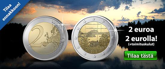 Suomalainen saunakulttuuri kahden euron erikoisraha