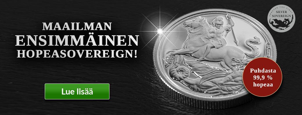 Maailman ensimmäinen hopeinen Sovereign