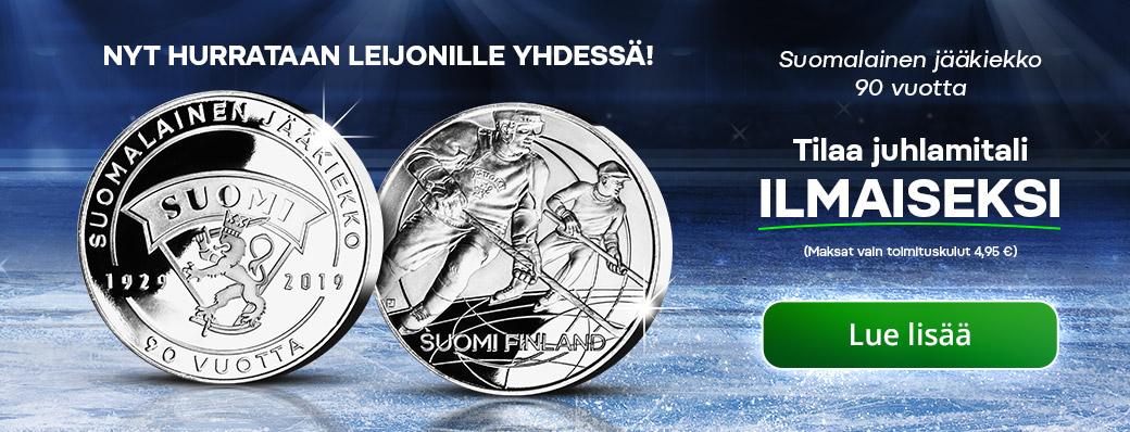 Suomalainen jääkiekko 90 vuotta -juhlamitali on nyt jaossa – ilmaiseksi!