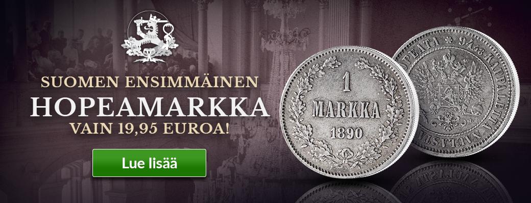 Alkuperäinen Suomen ensimmäinen hopeamarkka