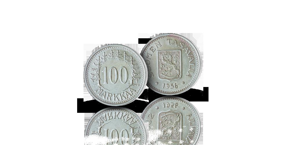 Suomen ainoa 100 mk hopearaha