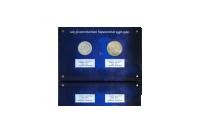 100 mk ja 200 mk hopearahat 1956-1958 sinisessä kehyksessä