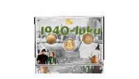 1940-luku akryyli ja kullatut käyttörahat.