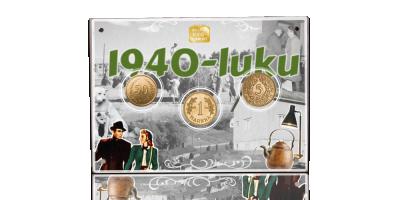 Alkuperäiset 1940-luvun markat kullattuina