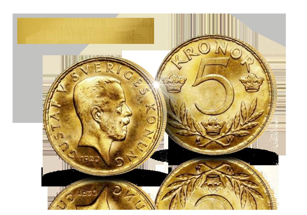 Ruotsin viimeinen kultainen 5 kruunun käyttöraha