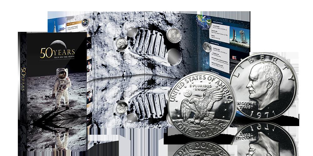 Man on the Moon 50-vuotisjuhlakokoelman kerääjänä saat upean keräilykansion
