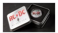 AC DC värjätty metallinen keräilyrasia ja mustalla sisuksella