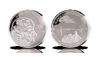 Hopeinen juhlaraha Ahvenanmaan itsehallinnon kunniaksi