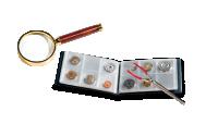 Keräilijän aloituspakkaus sisältää taskukansion, pinsetit ja suurennuslasin.