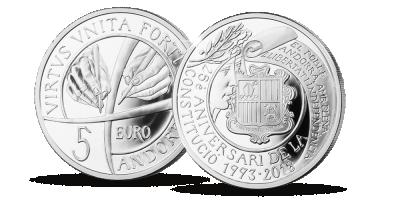 Andorran hopearaha 2018, ensimmäinen euromääräinen