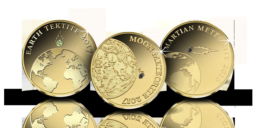 Aurinkokunta -kultarahat sisältävät palat aidoista meteoriiteistä