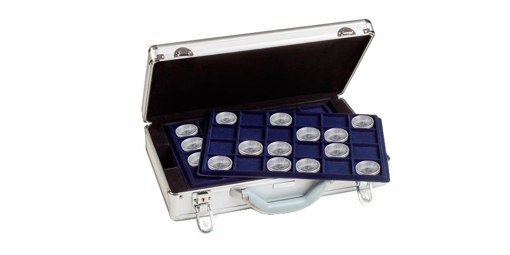 Metallinen CARGO L6 -rahasalkku sisältää paikat 198 rahalle