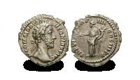 Commoduksen hopearaha antiikin Roomasta ajanlaskumme toiselta vuosisadalta