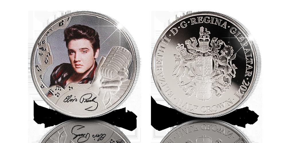 Virallinen Elvis Presley™ Rock and rollin kuningas -raha