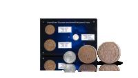 Itsenäisen Suomen ensimmäiset pennit pakattuna siniseen keräilylevyyn