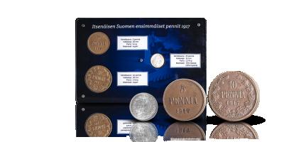 Itsenäisen Suomen ensimmäiset pennit 1917