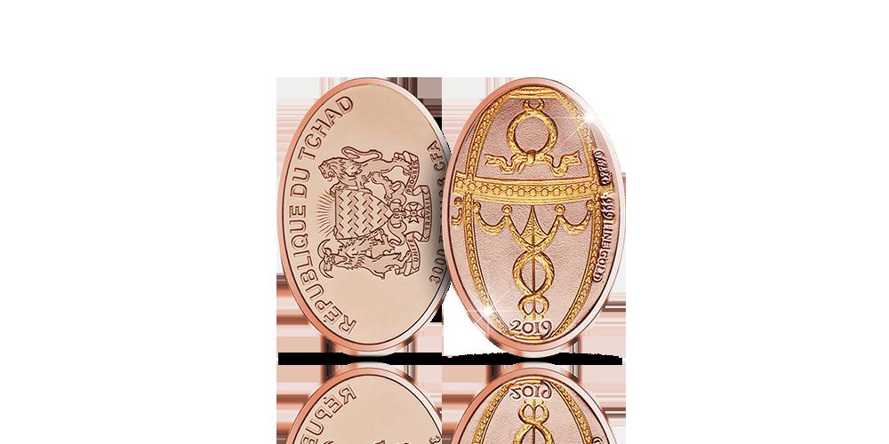 Näyttävä ruusukultauksella viimeistelty Fabergén pääsiäismunaa kunnioittava keräilyraha