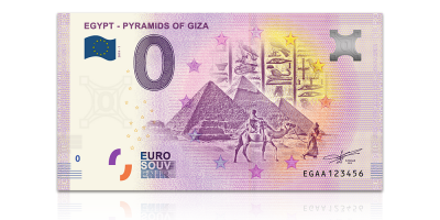 Gizan pyramidit 0 € -seteli 2019