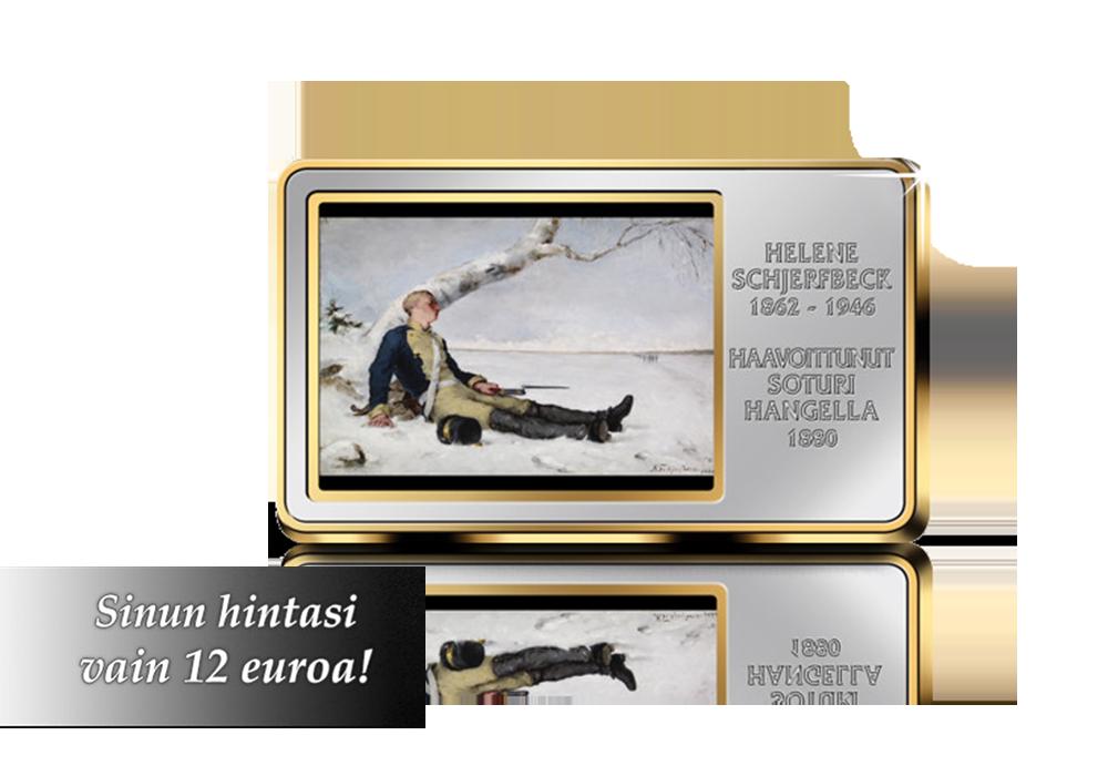 Helene Schjerfbeckin Haavoittunut soturi hangella