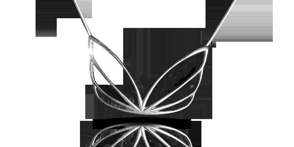 Hopeasiipi-kaulakoru, hopeaa
