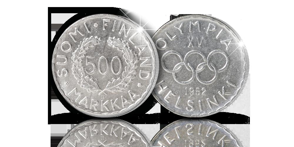 Ainutlaatuinen Helsinki 1952 hopearaha olympialaisten kunniaksi