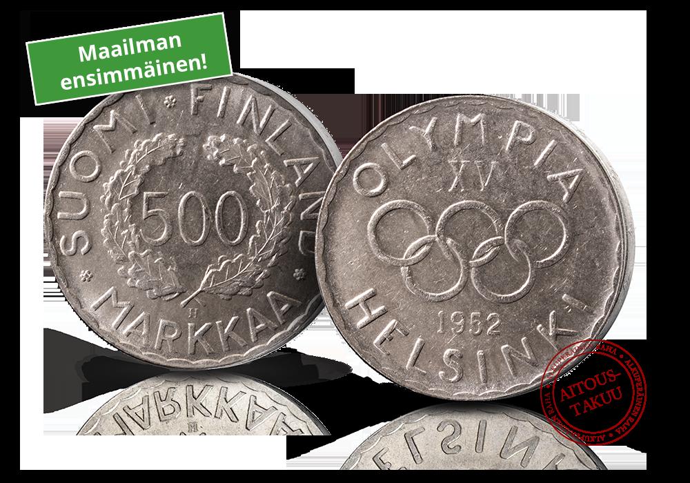 Maailman ensimmäinen moderneja olympialaisia kunnioittava juhlaraha