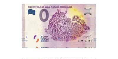 Huuhkaja (Bubo bubo) 0 € -seteli 2020