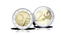 Ilmari Tapiovaaraa kunnioittava 2 euron juhlaraha