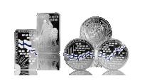 Kolme korkealaatuista hopeista keräilytuotetta yhdellä kertaa