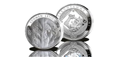 Suomen leijona -hopeamitali - Kansakuntamme Suomi -kokoelma