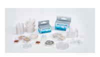100 kappaleen pakkaus muovisia kapseleita maks. 31 mm kokoisille rahoille