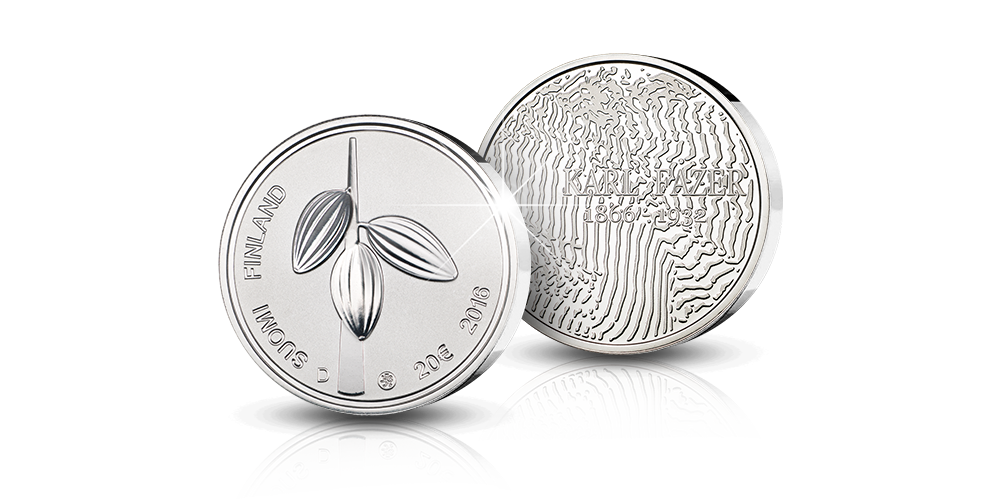 Karl Fazer -juhlaraha on aitoa 92,5% hopeaa ja parasta proof-laatua