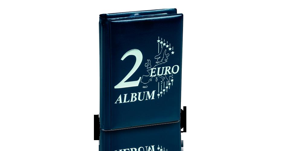 Sininen ROUTE -keräilyalbumi 48 kahden euron kolikolle