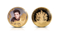 Elvis Presley™ Rock and rollin kuningas -raha kullattuna