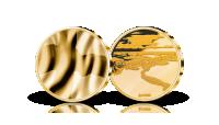 Suomen lippu -mitali 24 karaatin kultauksella